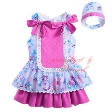 Baby Girls Infant Floral Tutu Dress Toddler Summer Party Princess Dress+ Hat Set