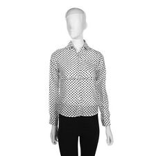 Ladies Exiquisite Design Black White Polka Dot Chiffon Long Sleeves Shirt  GS