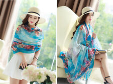 Summer Beach Women Lady Soft Scarf Chiffon Neckwear Long Thin Silk Shawl Scarves
