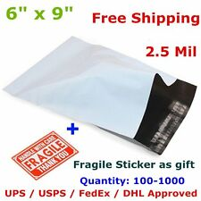 100-1000 6x9 Poly Mailer Shipping Envelope Self Seal Plastic Mailing Bag 2.5 Mil