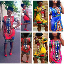 Sexy African Dashiki Shirt Kaftan Boho Hippe Gypsy Festival Tops Party Dress