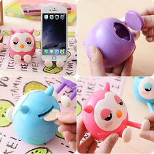 Hot Cute 2 in 1 Phone Stent The Owl Stents Money Box Plastic Holder IM