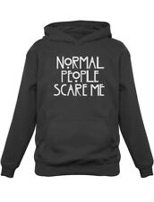 Normal People Scare Me Funny Slogan TV Inspired Horror Kids Hoodie Novelty Gift