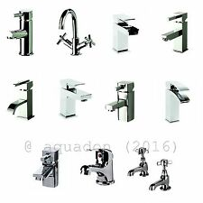 Modern Traditional Basin Sink Bathroom Cloakroom Mixer Tap Brass Chrome + Waste