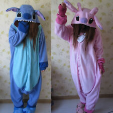 Adult Polar Fleece Animal Kigurumi Pajamas Costume Cosplay pyjamas   Stitch