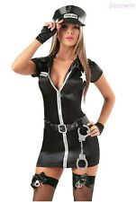 Sexy Police Cop Women Uniform Halloween Party Fancy Dress Outfit Costume