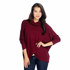 Kate & Mallory Stretch Rayon Dolman Sleeved Tulip Wrap Knit Pullover