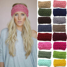 Winter Women Ear Warmer Headwrap Fashion Crochet Headband Knit Hairband h2