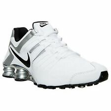 New Mens NIKE Shox Current White Black Silver Running Shoes 633631 102