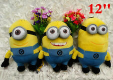 Despicable Me 12'' Minion 3D Eyes Stuart Dave Jerry Plush Toy Baby Birthday Gift