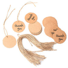 Label Price Gift Cards Brown Kraft Paper Hang Tags Wedding Party Favor Punch