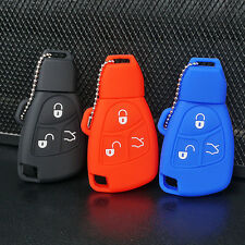 Silicone Fob Skin Key Cover Holder Jacket Protector Remote for Mercedes Benz