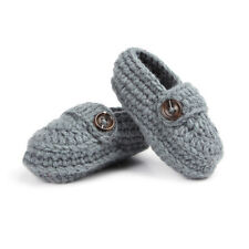 Newborn Baby Infant Boys Girls Crochet Knit Toddler Booties Crib Shoes Handmade