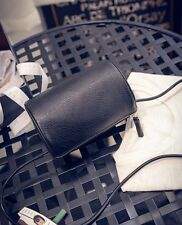 Vintage Women Cylindrical Shoulder Bag Simple Barrel Bag Charming Crossbody Bag