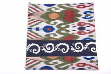 """Ikat and Suzani Embroidery Pillow Cover, """"Mavj"""" (Ripple), Hand embroidery"""