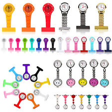 New Stainless Steel/Plastic/Silicone/Smiley Face Quartz Fob Nurses Watch UK