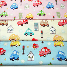 Cotton Fabric Pre-Cut Cotton Quilt cloth Fabric for Sewing Cars 3 Color D6