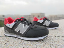 YOUTH NEW BALANCE NB 574 GS CLASSIC KL574FWG BLACK GREY CASUAL RUNNING SHOES
