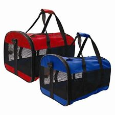 PET CARRIER COLLAPSIBLE FOLD UP AWAY CAT SMALL DOG RABBIT CARRIERS TRAVEL NEW