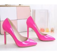 HOT Sexy Womens Pointed Toe Stiletto High Heels Pumps Court Shoes Patent Leather