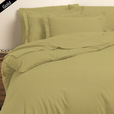 USA SCALA (GOLD SOLID) 1000TC COMPLETE BEDDING COLLECTION 100% COTTON ALL SIZE