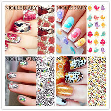 1 Sheet Nicole Diary Nail Art Water Transfer Stickers Manicure Tips Decals