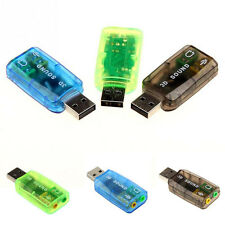 Virtual 5.1 USB to 3.5mm mic headphone Jack Stereo 3D Sound Card Audio Adapter