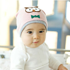 Cute Infant Boy Girl Soft Hat Cap Baby Animal Owl Print Hat Cotton Beanies New