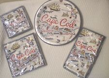 New Cape Cod Map Paper plates & assorted size napkins great for parties!