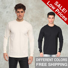 Organic Long Sleeve Crew T-Shirt Royal Apparel S M L-2X Alternative American Tee