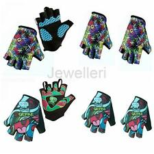 Summer Cycling Cycle Bike Bicycle Half Finger Gel Padded Gloves Breathable