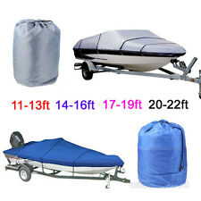 1PCS Boat Cover Heavy Duty Speedboat Waterproof Match Fish-Ski V-Hull 2 Colors