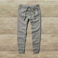 NWT Abercrombie & Fitch Mens Jogger Sweatpants Heather Gray Large