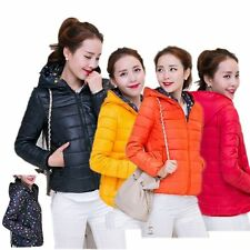 Women Outwear Light Packable Down Coat Heart Hooded Jacket Both sides wear coat