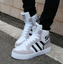 Men's Fashion Lace Up Athletic Sports High Top Running Dancing Sneakers Shoes