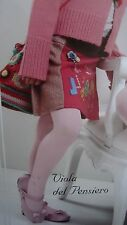 Franzoni Girls fine Italian opaque tights pink sequin hearts on ankle 3-12yr