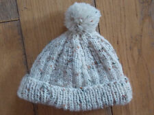 Brand New Hand Knitted Beige Bobble Baby hat 0-3 / 3-6 / 6-9 Months