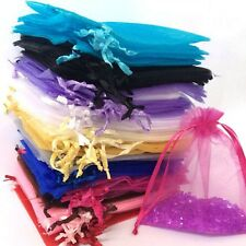 100pcs Organza Wedding Xmas Party Favor Gift Candy Bags Jewellery Pouches AV