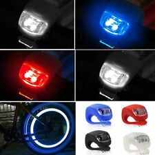 LED 3 Mode Silicone Mountain Bike Bicycle Front or Rear Light Set Inc Batteries