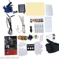 Tattoo Kit 7 Color Inks Power Supply Machine Guns Set Power Supply Needles Grip