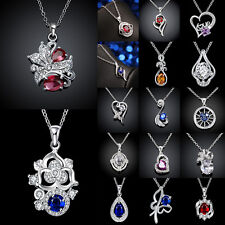 Ladies 925 Sterling Silver Necklaces Fashion Xmas Pendants Jewelry Party Gift