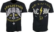 AFFLICTION Men's T-shirt PISTON Paneled V-neck NEW American Customs