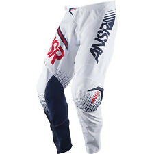 Answer 2017 Mx Gear NEW Syncron White Red BMX MTB Dirt Bike Motocross Pants