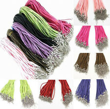 10Pcs Wholesale Velvet Strings With Lobster Clasp Connector For Necklace 45cm