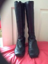Clarks womens black leather knee boots size 7.5 excellent condition.