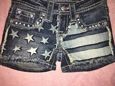 "Miss Me Girls shorts JK5844 ""Faded USA"""