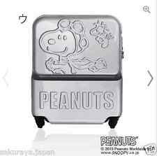PEANUTS SNOOPY Travel Luggage Carry On Bag Suitcase TSA Lock from Japan T4025