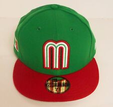 New Era Mexico World Baseball Classic Fitted Hat WBC Green/Red Official Licensed