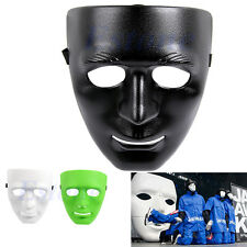 Crew Full Face Plastic Plain Mask For Dance/Opera Costume Party Dance Hip Hop