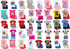 Boys Girls Kids Baby Toddler Character Short Pyjamas pjs Age 1,5-12 Years 92-152